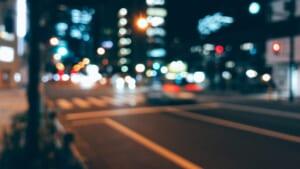 ボケを意識して撮影した夜の町並み