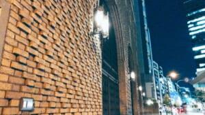 北浜にある美しい建物の壁
