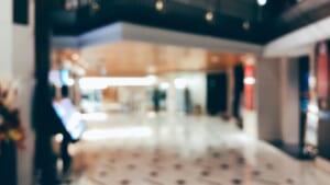 ボケを意識して撮影したハービス大阪の館内