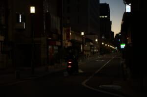 ライカで撮影した夕方の三休橋