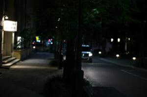 夜にライカで撮影した三休橋