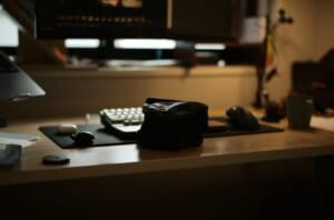 TCSIのアトリエにある、ライカのカメラバッグ