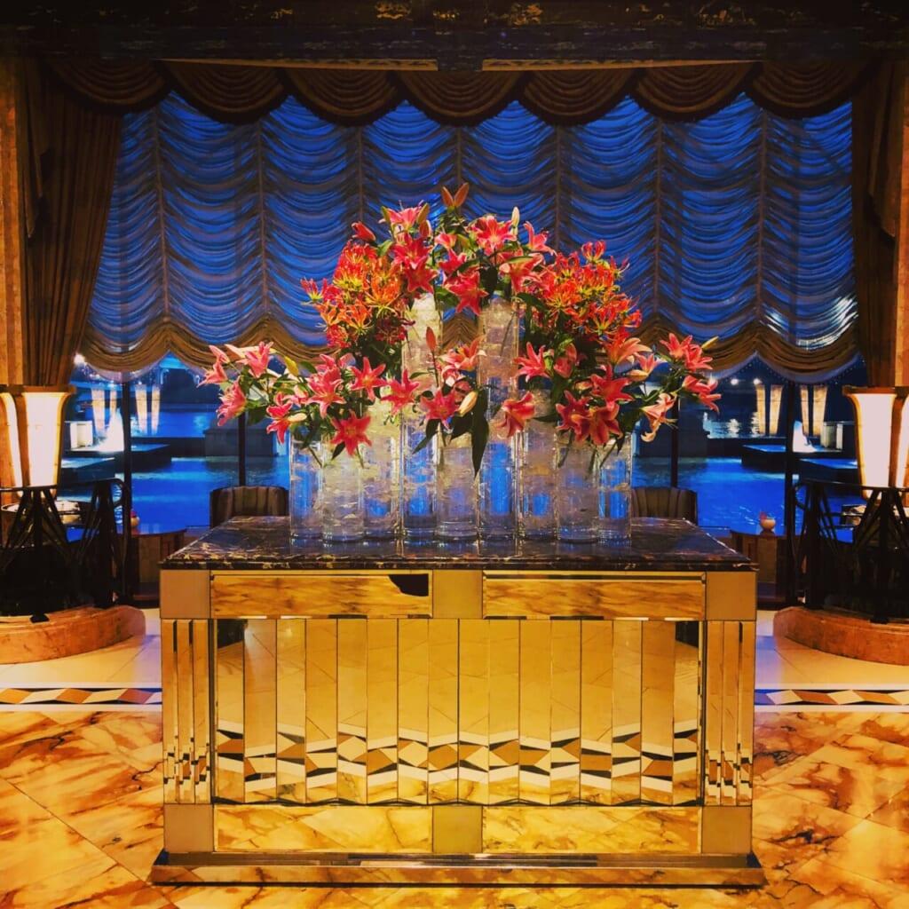 会員制ホテルのロビーで撮影した風景