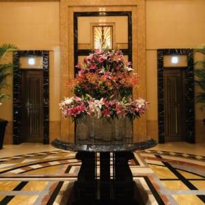 会員制ホテルのロビーで撮影した写真