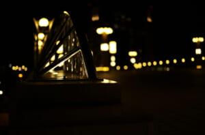 目が奪われるほど美しい夜道の様子