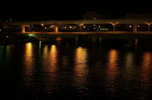 ベイコートクラブ東京のそばで撮影した水面