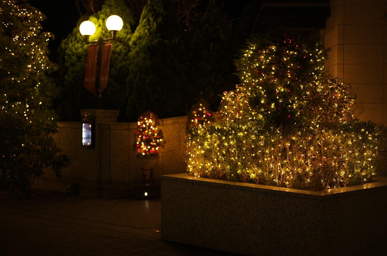 会員制ホテルで撮影した美しい夜のライトアップ