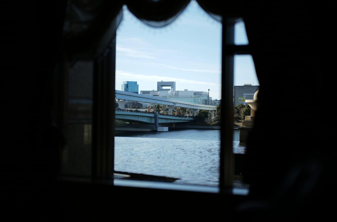 ベイコートクラブ東京のラウンジから見た景色
