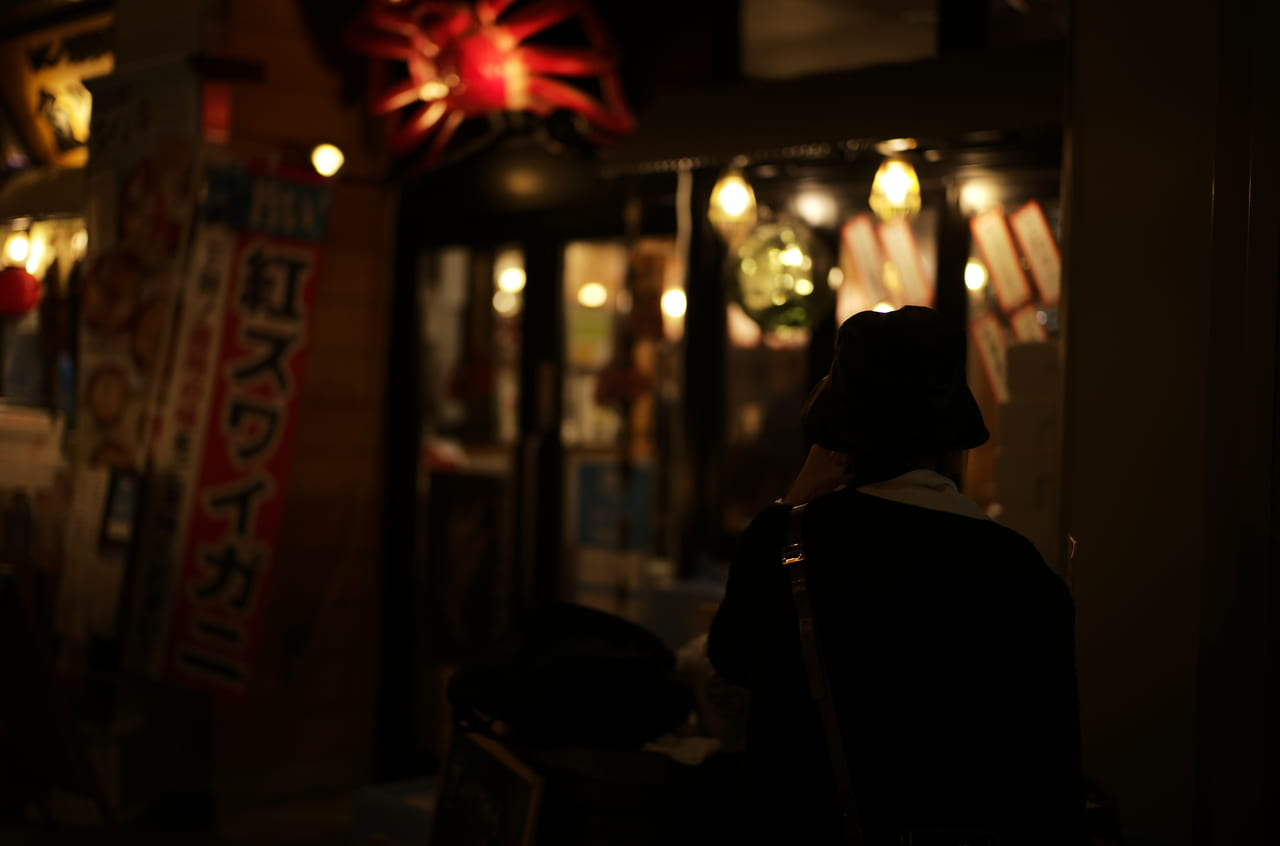 金沢で撮影した美しい照明の対比