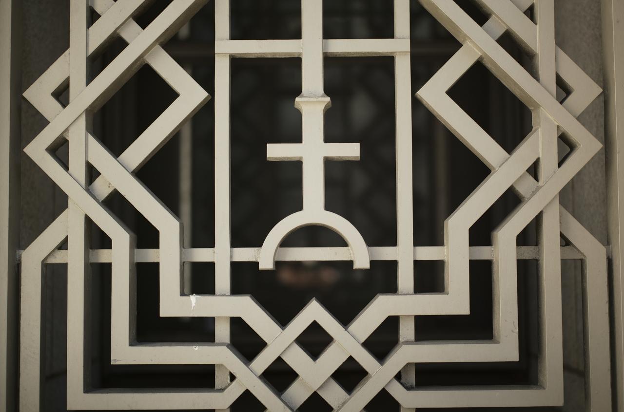幾何学的で美しい柵