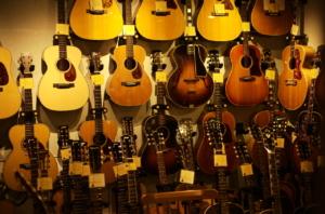 素晴らしいギターショップの雰囲気