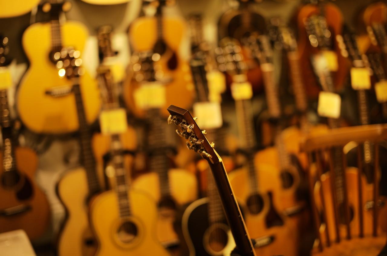 美しいギターのネックと背景