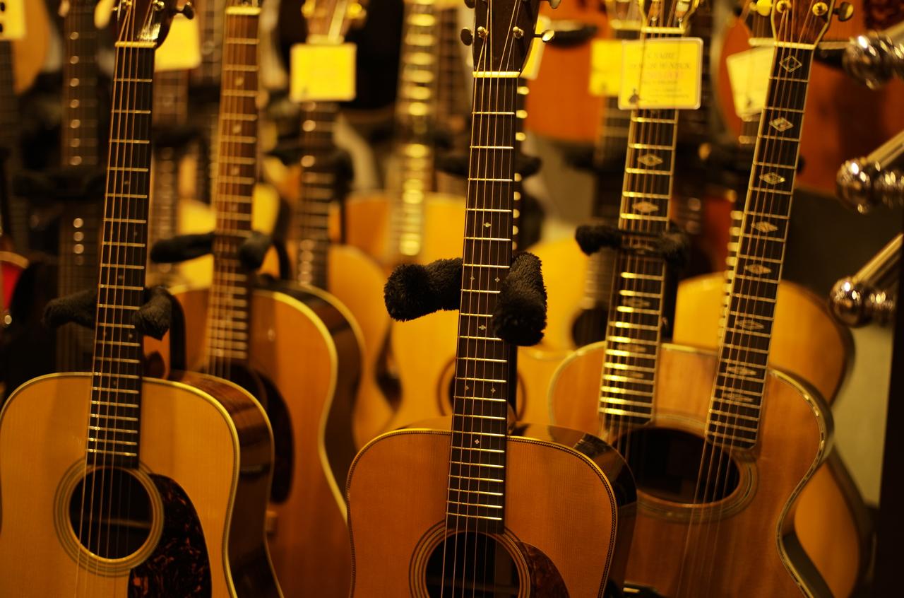 美しいアコースティックギター達