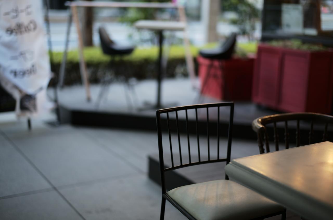 空間が美しい、カフェの椅子の写真