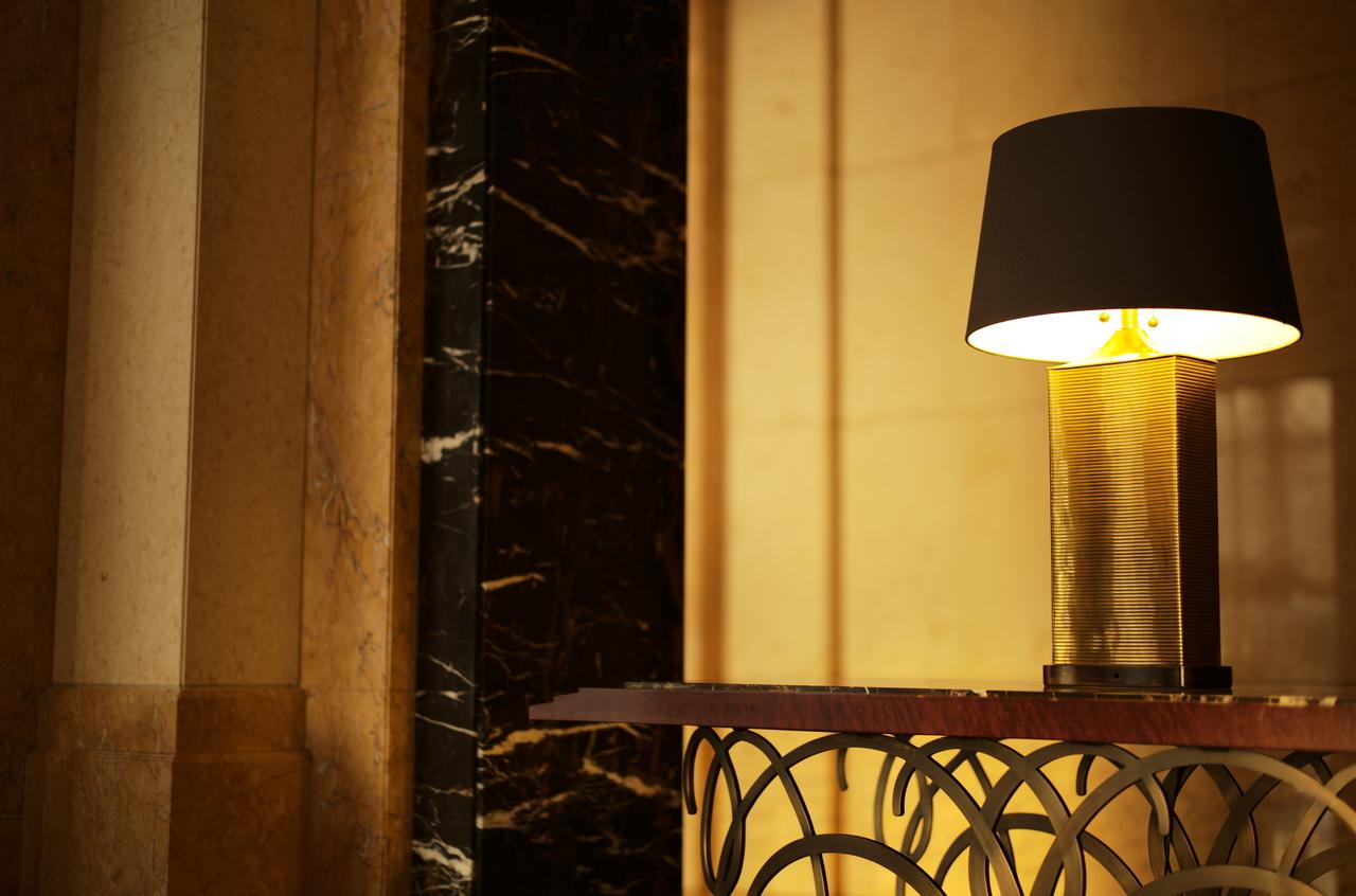 美しいホテルのロビー