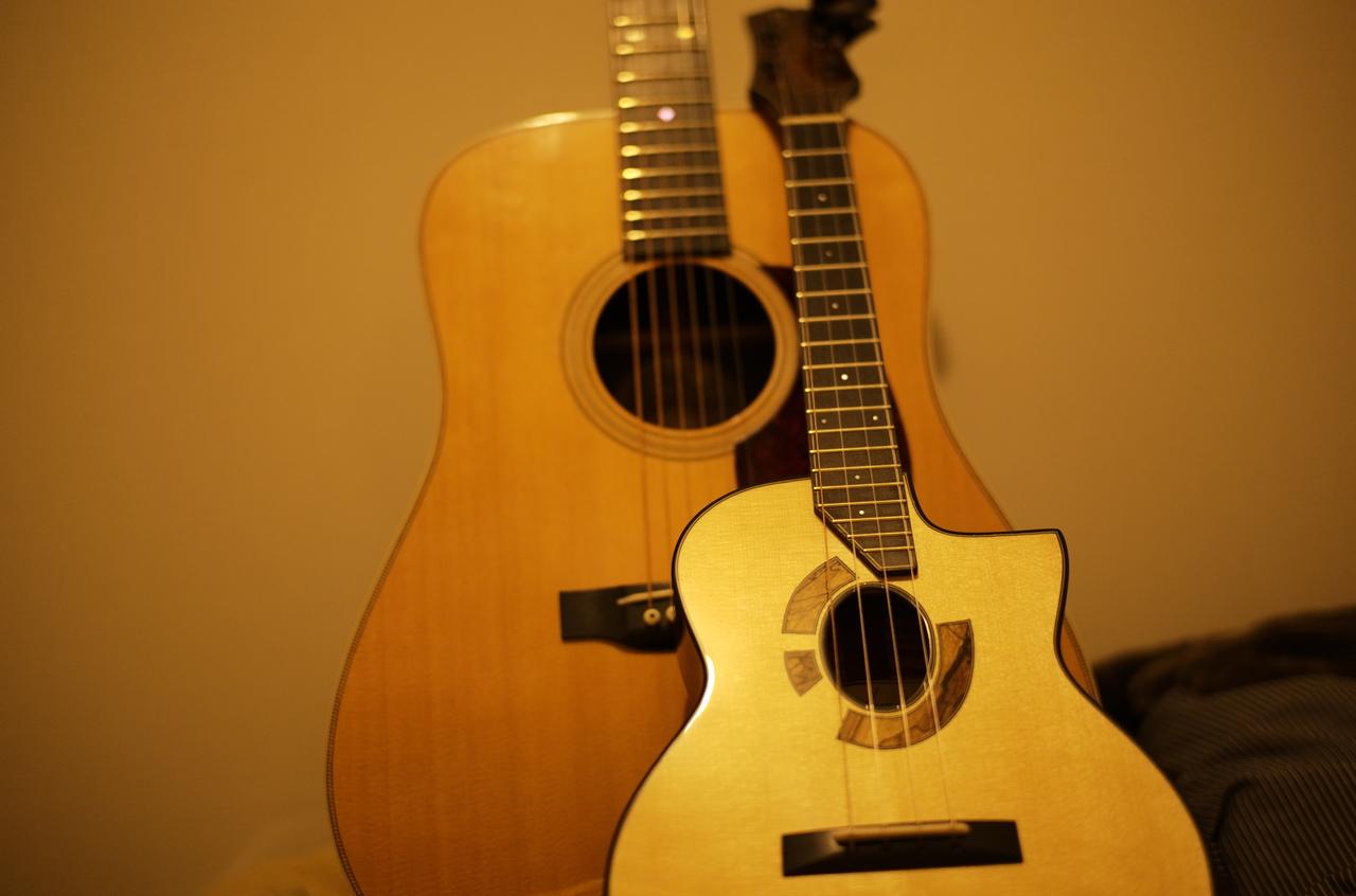 美しいCollingsのギターとウクレレ