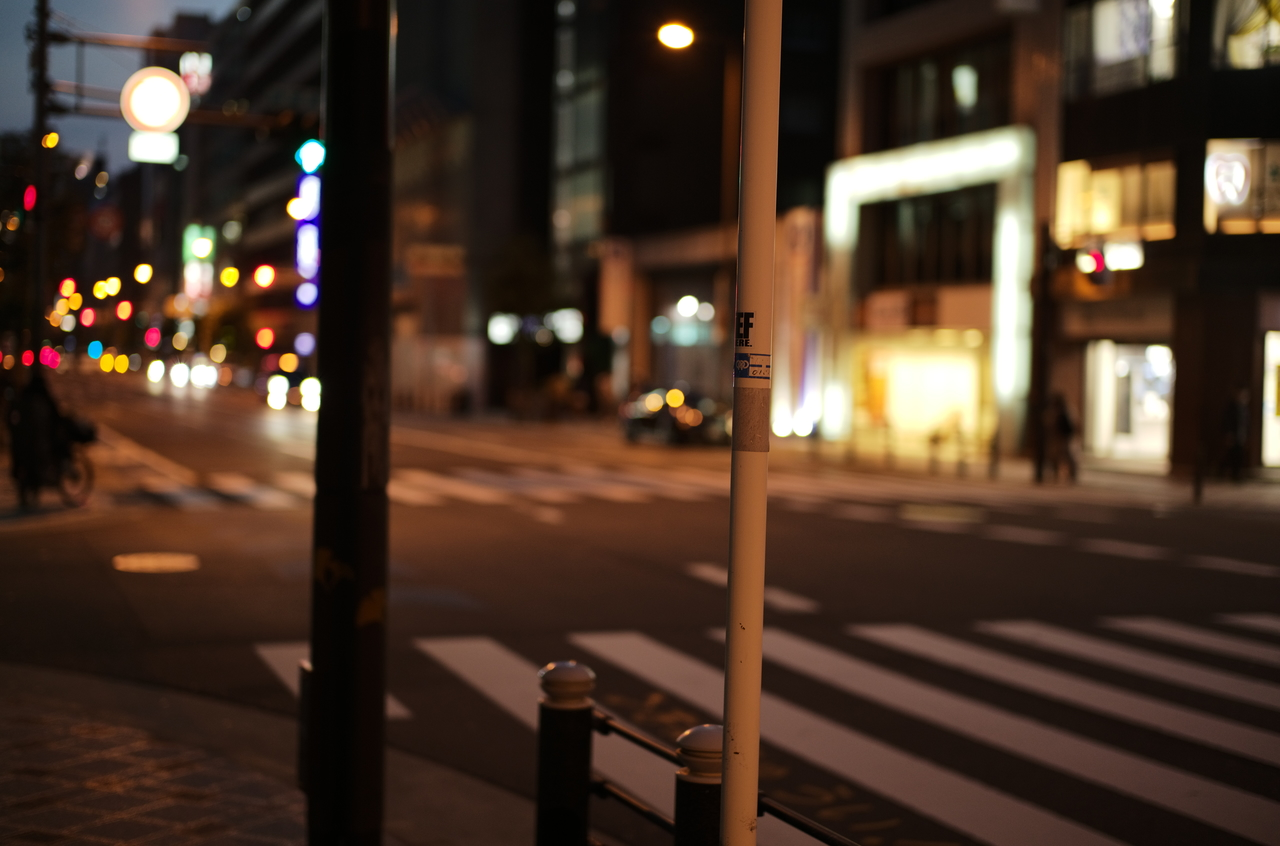 素敵な道路と夜景の様子