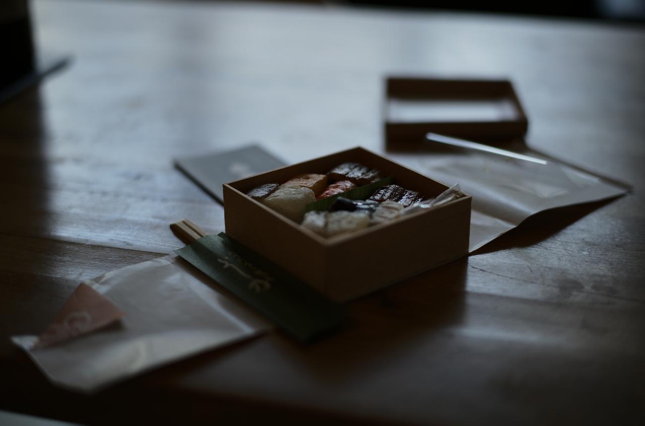 きれいな箱寿司の写真