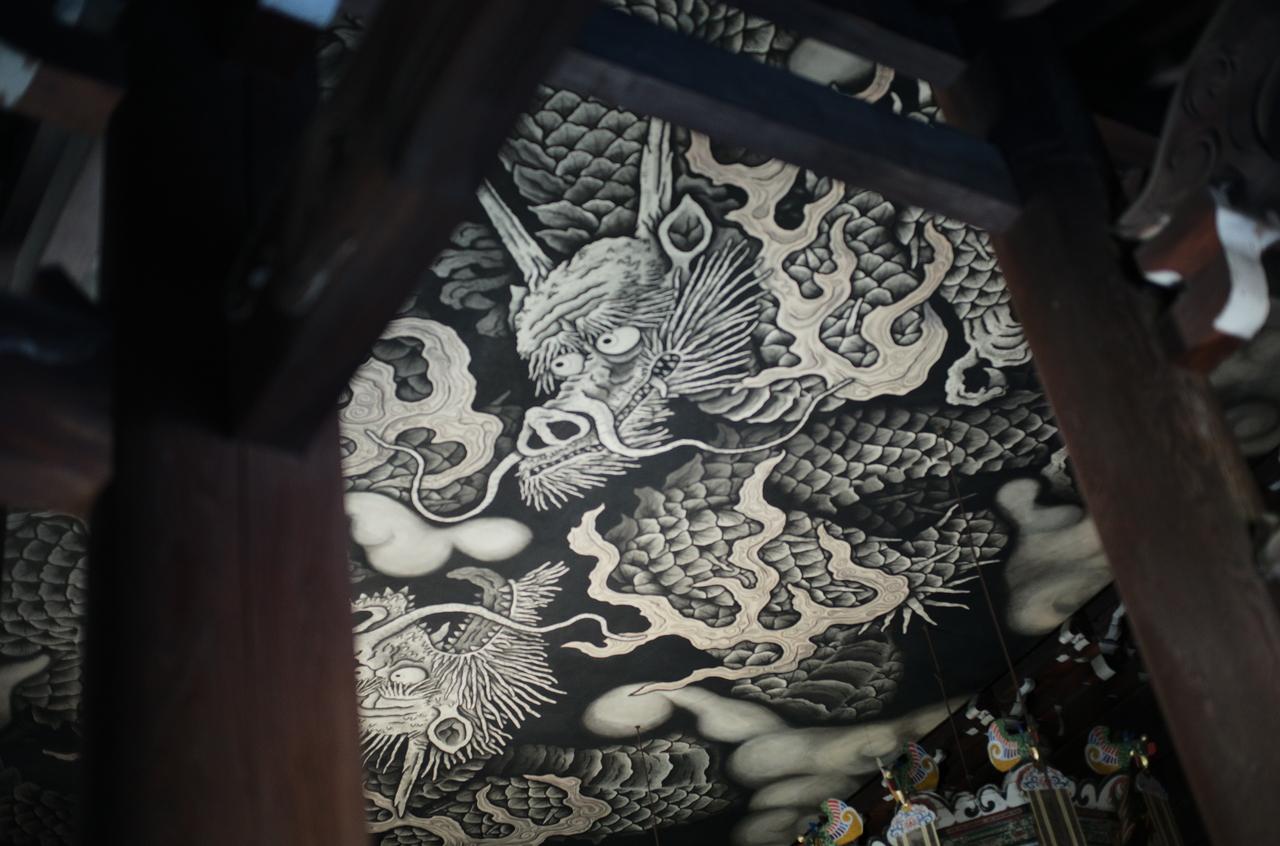 建仁寺の龍の絵